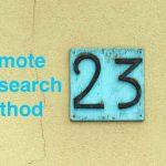 リモートリサーチメソッド|23種類