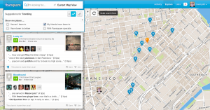 Foursquare画面