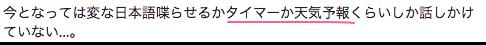 今となっては変な日本語喋らせるかタイマーか天気予報くらいしか話しかけていない。