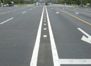 道路の減速帯