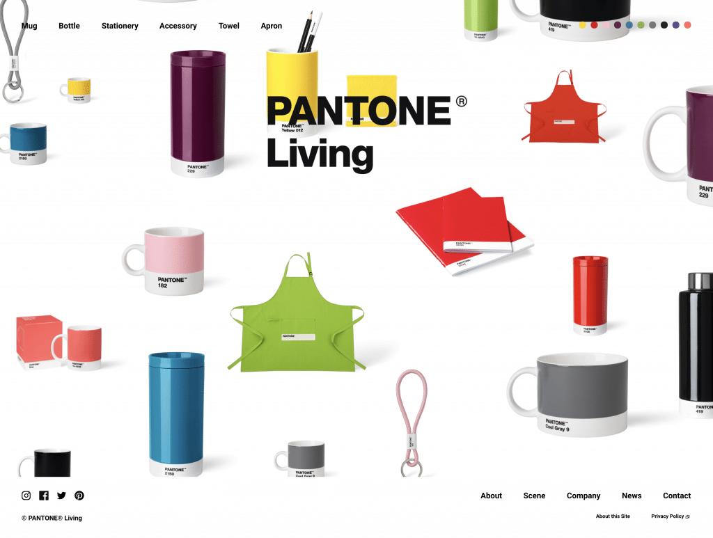 PANTONEのサイトのサムネール(英語のグローバルナビ)