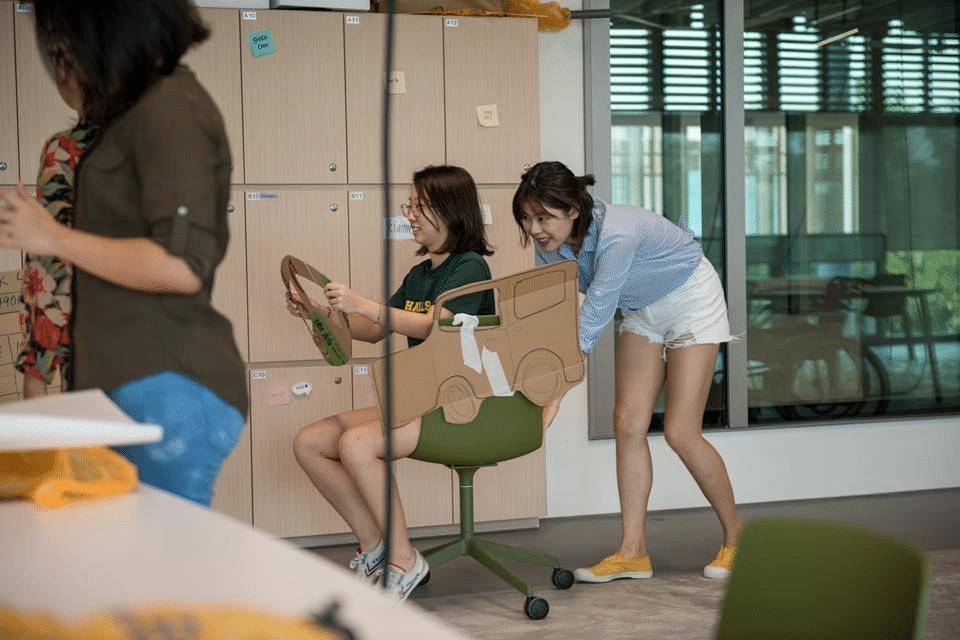 シンガポール大学で行われたロールプレイングの様子